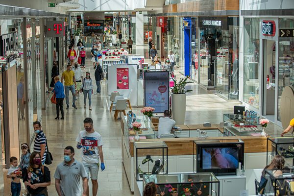 Eurovea shopping mall in May 2020.