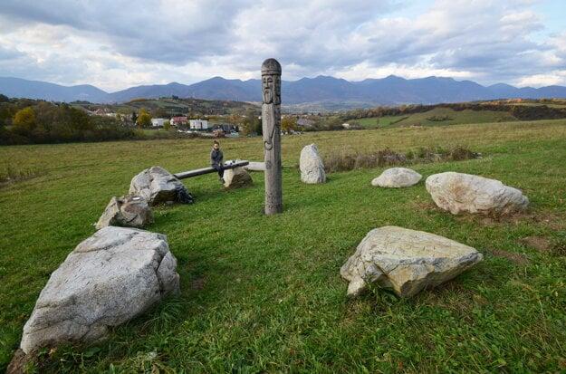 The Slavic Idol outside Turčianska Štiavnička.
