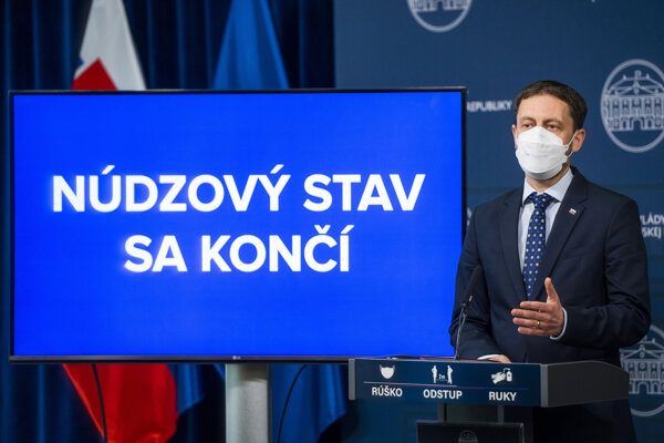 PM Eduard Heger announces the end of national emergency.