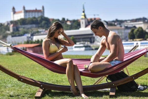 The city beach has become a popular summer destination in Bratislava.