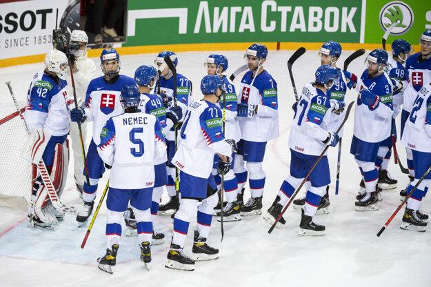 Slovakia wins its first ice-hockey game at the 2021 IIHF World Championship in Riga, Latvia, on May 21, 2021.