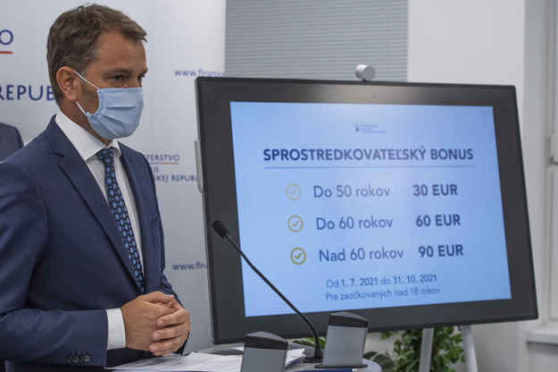 Finance Minister Igor Matovič presented his proposal to reward people who persuade others to get the jab.