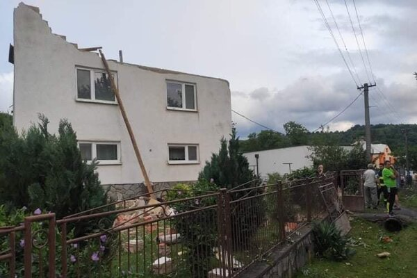 The village of Petkovce was hit by a tornado.