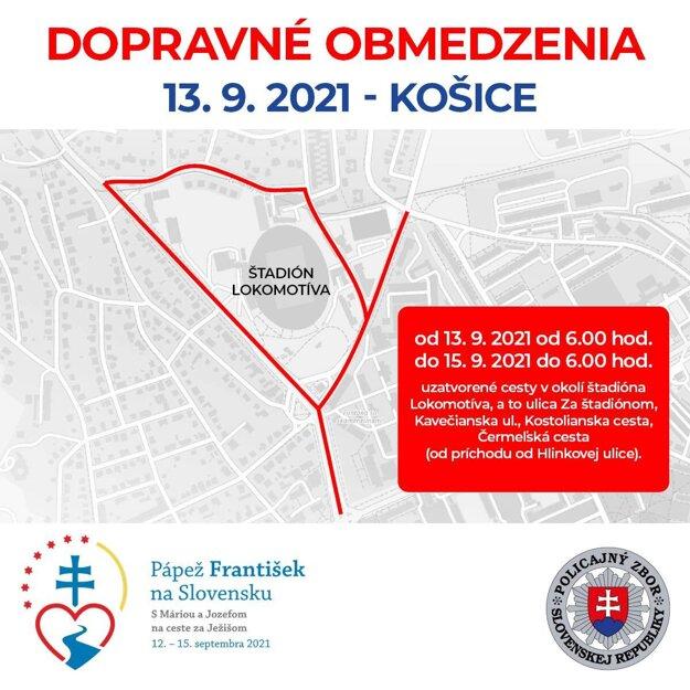 Traffic limitations in Košice on September 13.