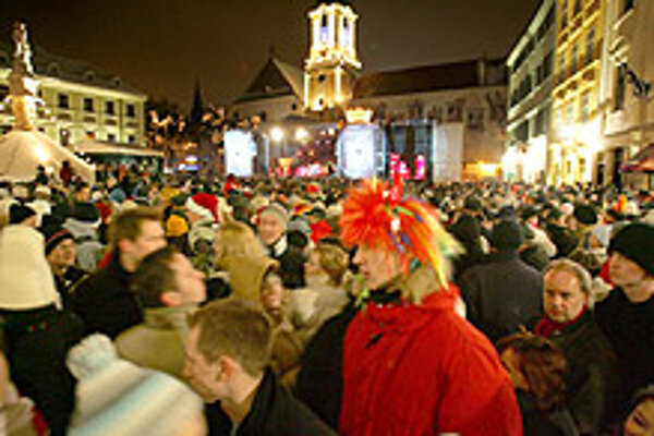 Bratislava's Main Square will once again be the centre of New Year's festivities.