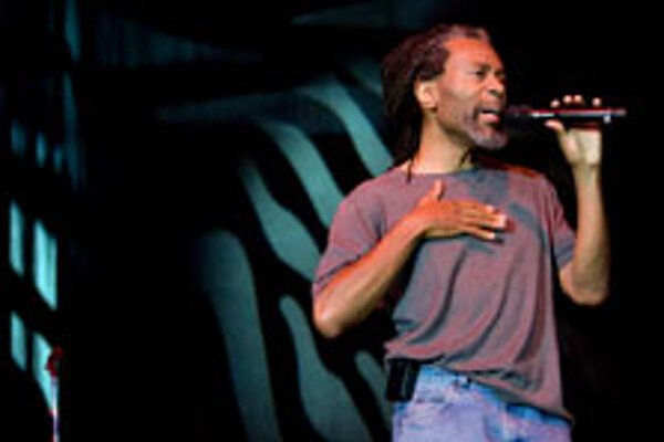 Bobby McFerrin was completely uninhibited in his enthusiasm for music.