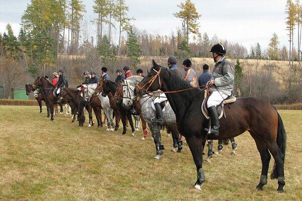 St Hubert's ride closed the riding season.