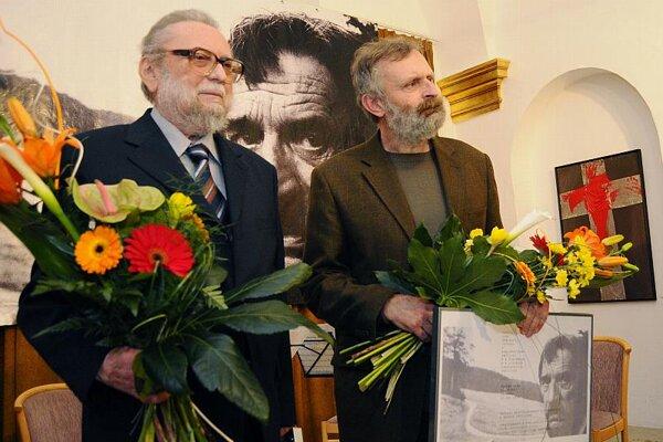 Ján Buzássy (left) and Mikuláš Maňo Huba.