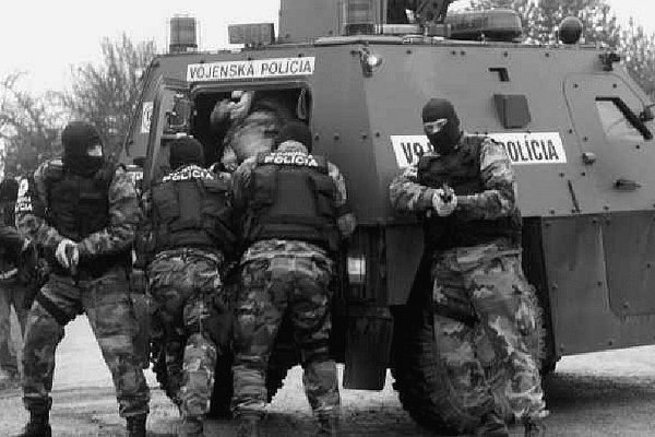 The military police in action.