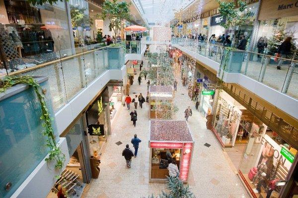 A mall in Bratislava.