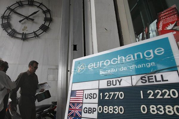 The euro has fallen rapidly against the US dollar.