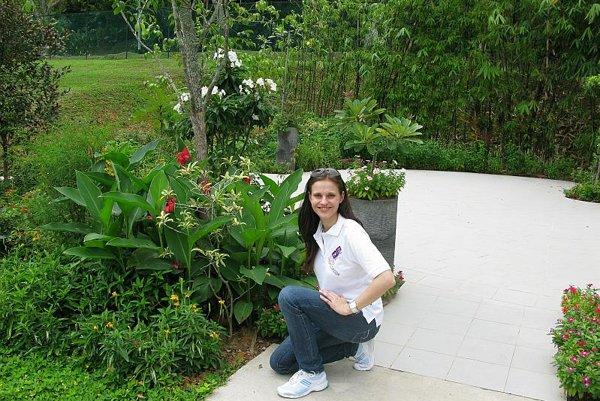 Danka Barteková in Hort Park, Singapore.