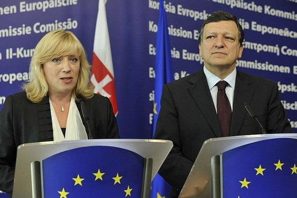 Iveta Radičová met José Manuel Barroso in July.