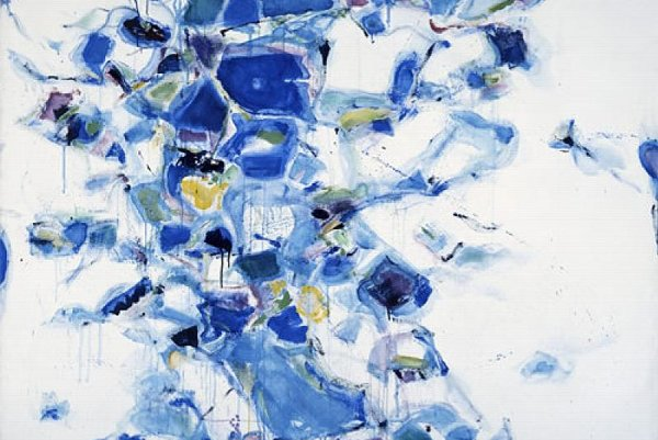 Untitled, an oil on canvas by American artist Sam Francis.