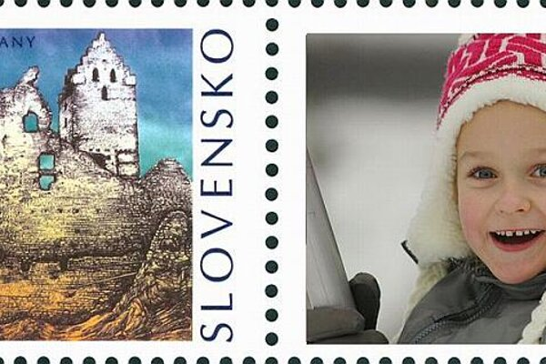 A personalised postage stamp.