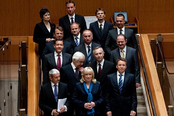 The Radičová-led government at the start of its term.