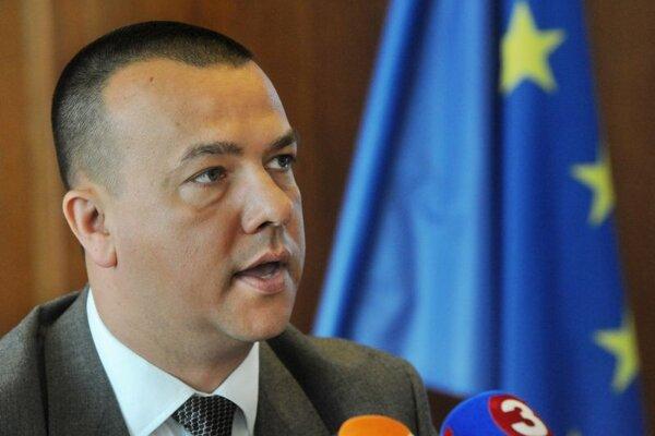 Outgoing Economy Minister Juraj Miškov