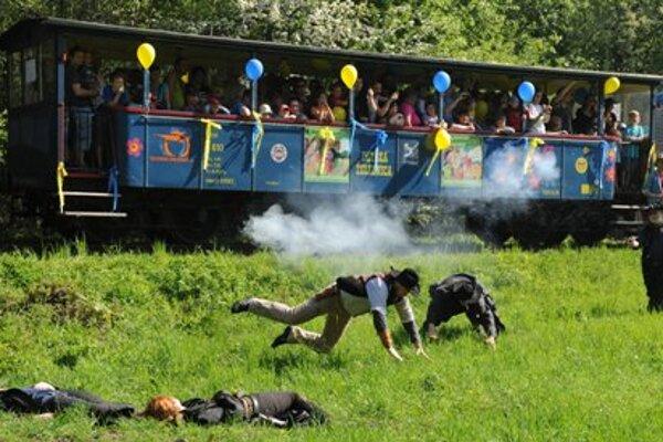 Fake train attack in Košice - Čermeľ.
