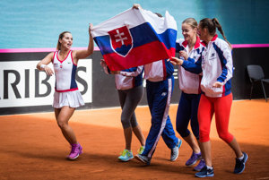 Slovak team at Fedcup 2016 against Canada