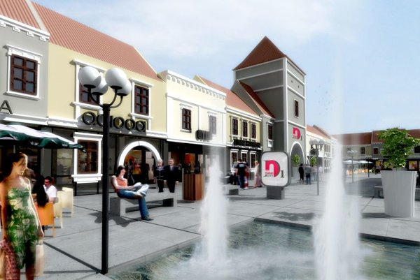 An artist's impression of D1 Outlet City near Senec.