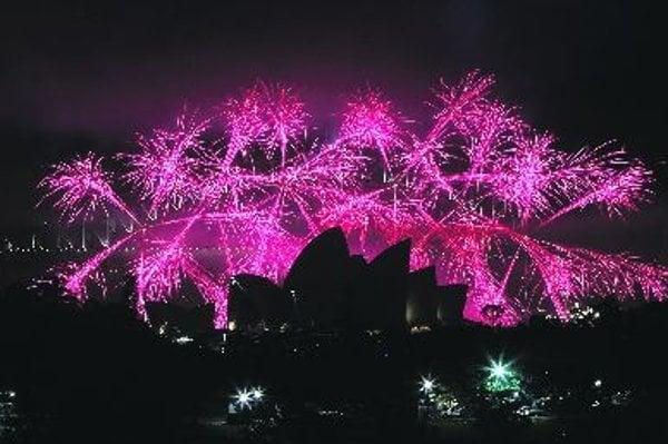 TheNewYear's fireworks in Sydney.