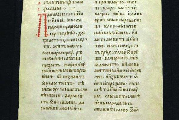 Glagolitic script.