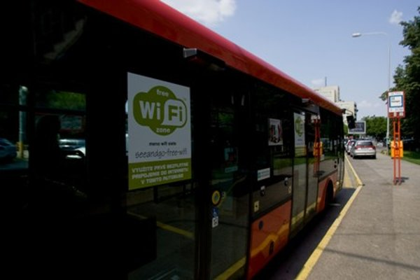Bus with free internet for passengers.