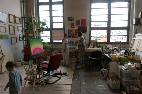 One of the ateliers at Cvernovka, a home for many so-called creatives.