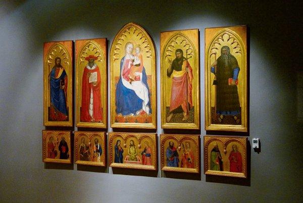 Nardo di Cione school: Altar painting from the chapel in Bojnice Castle, around 1343.