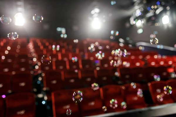 True-to-reality bubbles flooded the cinema at presentation.