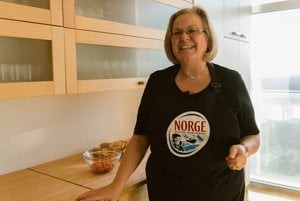 Ambassador Inga Magistad talks passionately about Norwegian cuisine.