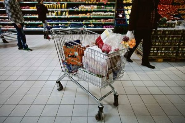 Only about one half of the food in people's carts is likely made in Slovakia.