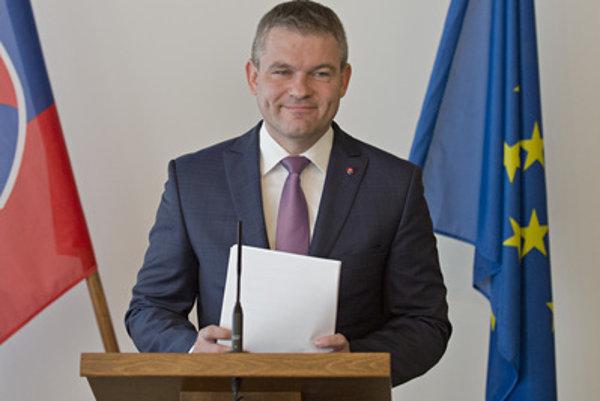 Speaker of Parliament Peter Pellegrini announces the date of election.