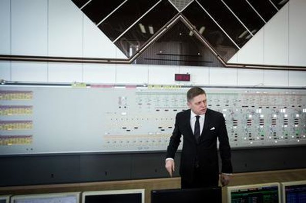 PM Robert Fico at Gabčíkovo hydropower plant.