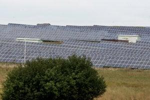 A solar energy array in Slovakia