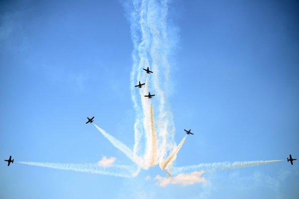 Spanish aerobatic squadron Patrulla Aguila