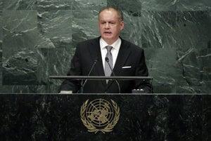 Slovak president Andrej Kiska tlaks at the UN General Assembly.
