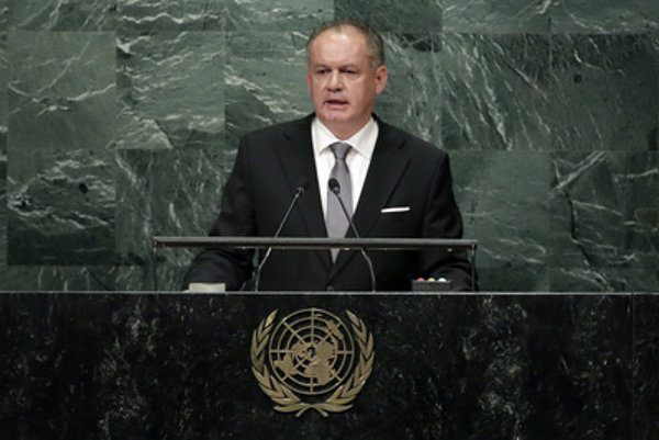 Slovak president Andrej Kiska tlaks at the UN General Assembly.