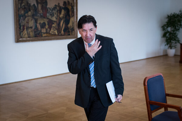 Opposition MP Ján Budaj.