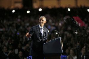 Leaving US President Barack Obama