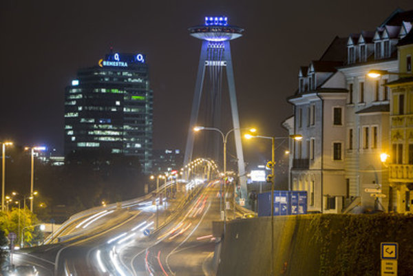 Bratislava city lights