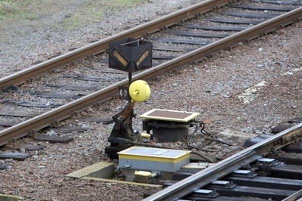 Railroad switch, illustrative stock photo