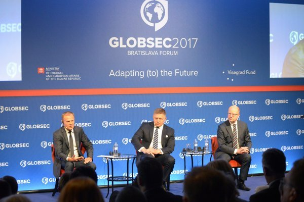 Last year Donald Tusk, Robert Fico, and Bohuslav Sobotka (left to right) were among the prominent guests.