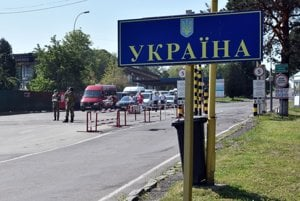 Vyšné Nemecké-Uzhhorod border crossing between Slovakia and Ukraine.