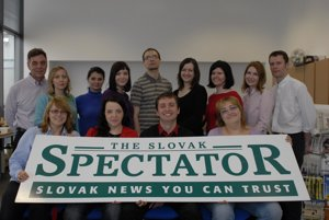 The TSS team in 2010: from left,bottom row: Jana Liptáková, Beata Balogová, Ján Pallo, Zuzana Vilikovská; top row: Donald Spatz, Tatiana Štrauchová, Marta Fukasová, Michaela Terenzani, Roman Král, Martina Mišíková, Dáša Košútová, Beata Fojtíková, James Thomson