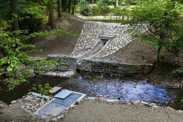 Ponds/water reservoirs at Železná Studnička, recently renovated.