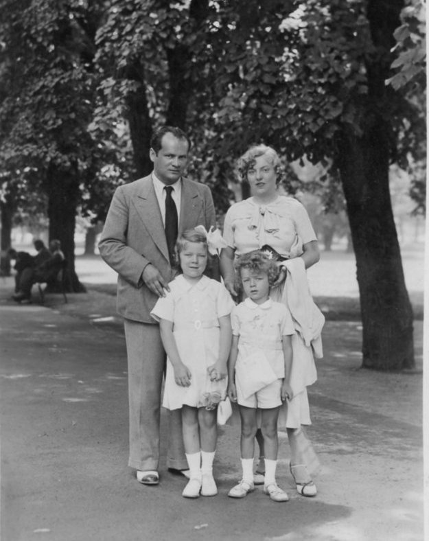 Imrich Karvaš and his family