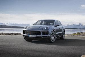 The new Porsche Cayenne, front.