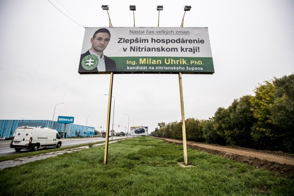 Extremist candidate Milan Uhrík runs for the post of the governor in Nitra Region.