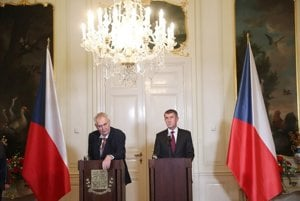 L-R: President Zemand and PM Babiš form the fate of the Czech Republic but impact also that of Slovakia.